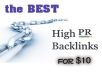 Create 350 PR 4+ Backlinks