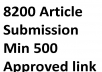 Article Submission Blast on over 8200 With Min 600 Approved Backlinks for better Ranking in google