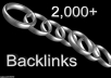 give you over 2,000 quality back links to any website increasing your web presence