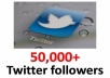add 50,000+ real looking twitter followers to your account in less than 24 hours