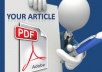 upload your document or pdf file to 20+ High PR sharing websites