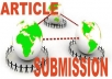 Manually submit your article to all 50 High PR and popular article directories