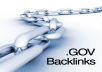 manually create 50 edu and gov authority backlinks to your website