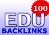 create 150 edu backlinks in max 3 days very cheap