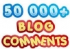 produce 400+ site commenting backlinks to your desired website or blog or any other web property