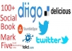 give you 20,Stumbleupon,diigo,delicious,pinterest,facebook share groupTotal 100 Social Bookmark