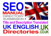 submit to UK English Directories MANUALLY