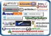 create 1800 powerfull article backlink | Live link Guaranteed | Indexing System