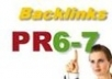 Get Your Website/Blog 2Pr6,2Pr7 and 1Pr8 High Authority Backlinks + Ping All The Links For Maximum SEO Juice