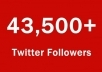 ** give you 43,500+ Real Twitter FOLLOWERS super fast without your password we just need ur account user name real service in 7 hours **