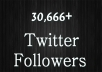 will give you 30,666+ High quality ✔ Twitter Followers ✔ to your profile in 1 day ✔