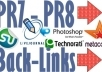 create 15 PR7 PR8 Backlinks on Authority Sites Page Rank 7, 8 Links from Famous Brands