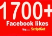 1700+ REAL Facebook Page Likes as fast as 20minutes, all real and active fb fans, pagelikes, fbfans, facebook pages