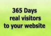 deliver REAL HUMAN TRAFFIC to your website/Blog for 365 DAYS only
