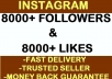 give You 8000+ Instagram Likes and 8000+ Followers Plus I Will Promote Your Link On Facebook Page With 80,000 Users