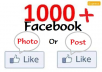 Get you 1000++ Facebook Photo / Post Likes Within 24-hours