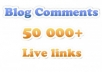 PROVIDE A 55000+ VERIFIED BLOGCOMMENTS WITH ALL PROOFS 