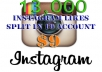 add 13,000 Instagram Likes, Split to Max 10 Photos