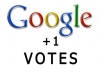 give you 10 google plus one votes within 24 hours