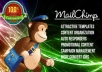 setup and configure your mailchimp account and create a nice email template with a banner