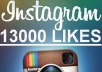 add On Your Instagram Photo 13000 Likes, Very Fast, You Can Spread Them Over More Photos just