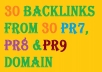 Generate 30 and  above High quality do follow backlinks for your website from 30 PR7 and above High authority domain + Penguin and panda friendly