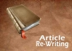 rewrite any 400 words article for 