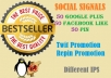create powerful social Signals from top social Networking sites to boost your seo