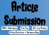spin and Submit to 2000 Article Submission Directories and blogs, 160 Instant Backlinks, 80 Live URLs with full report