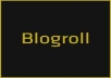 give you a PR6 + PR4 Permanent Blogroll Homepage link sitewide high quality