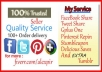 give You REAL 10 Facebook Share,15 Tweet,15 Pinterest Share,15 Google votes, 20 Stumble Likes and 20 Delicious Saves And Extra 10 Tumblr/diigo