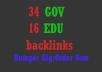 create backlinks to your website from 34 GOV 16 EDU sites and index them all improve seo