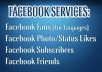 give you 500++ facebook real and safe fans like only 100% manually done in super fast