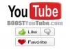 give you 210++ you-tube likes for your any kind of you-tube video just