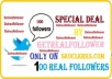 add targetted twitter followers 100 within 48hrs