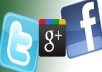 provide real 40 FB like,20 Google+1 and 10 tweets
