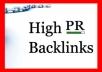 give over 100+ High Quality Backlinks PR3 to PR9 + 500 DoFollow NoFollow backlinks