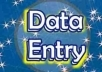 Data entry from website to Excel with in 72hours