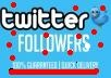 give you 150++ twitter followers real and safe for your account only