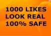 spECIALLY add 1000+ Real Looking Facebook likes to make your fan page look supercool by so many Facebook fans