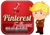 give you 50+ pinterest followers 100% real and safe just only