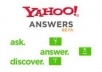 answer 3 Answers in yahoo answer with you website, product, business link or url