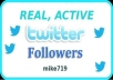 1,000 REAL and ACTIVE Human Twitter Followers (NOT Fake or Inactive accounts!), Actual Human People who can retweet and favorite, there is no other gig like this one!