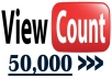 give you 50,000 Real YOUTUBE Views + 50 Likes + 50 Subscribers+ 50 Favorites + 10 Comments
