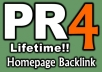 give PR4 Permanent Dofollow Homepage Link on Valid PR4 US English site {Guarantee less than 30 OBLs}