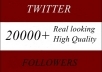 add SAFELY 20,000+ Twitter Followers, No Passwords needed