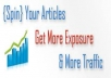 Spin And Submit Your Article To 7300 Directories, Get 500+ Google Backlinks + Ping With Detail Report