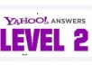 provide you 1 yahoo Answer account Level 2 complete in 6 days
