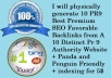 physically generate 10 PR9 Best Premium SEO Favorable Backlinks from 10 Distinct Pr 9 Authority Website + Panda and Penguin Friendly + indexing for