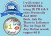 create a  LINKWHEEL using 20 PR 8 &amp; 9 sites Personally And 3000 Back_link On These to Influence The 1st Page Of Any Online search engine